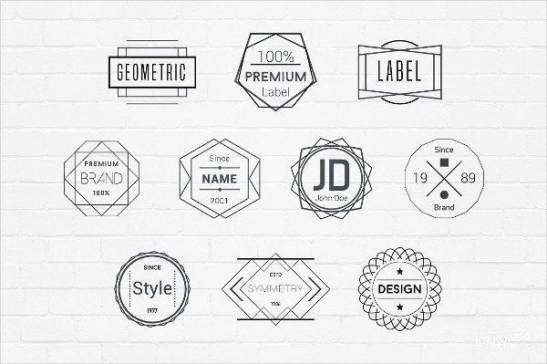 Geometric Badges Logos