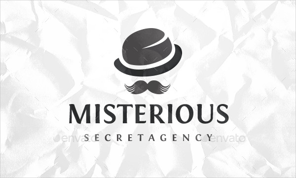 Gentleman Spy Logo Template
