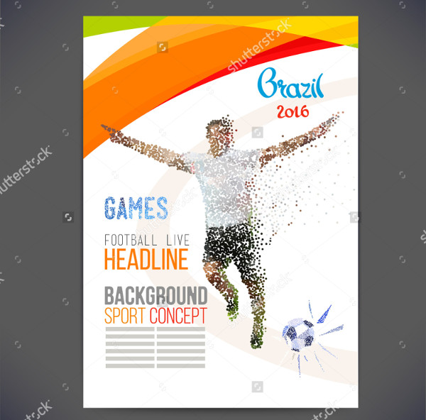Geometric Shapes Soccer Player Flyer