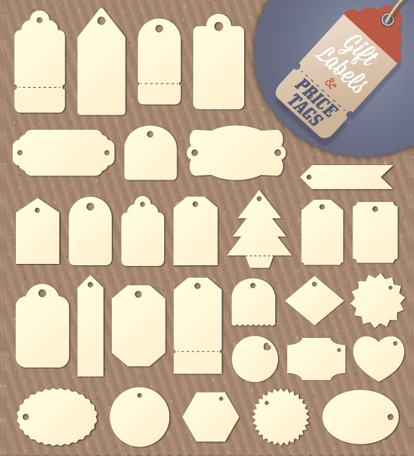 Gift Tag and Price Label Templates