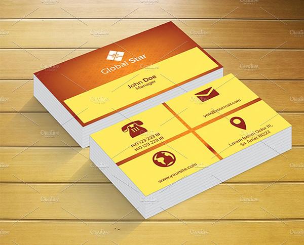 Golden Metro Business Card Template