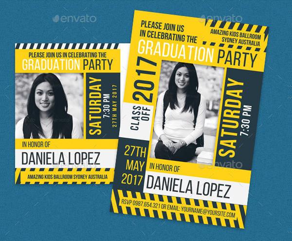 Graduation Celebration Post Card Template