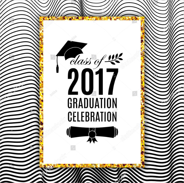 Graduation Greeting Card Template Vector