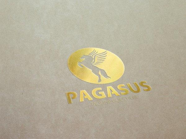 Professional Pegasus Studio Logo Template