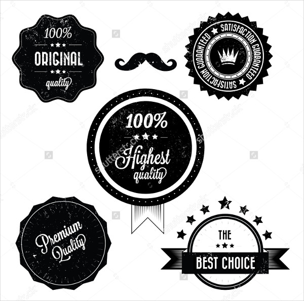 Collection of Premium Quality Retro Vintage Labels