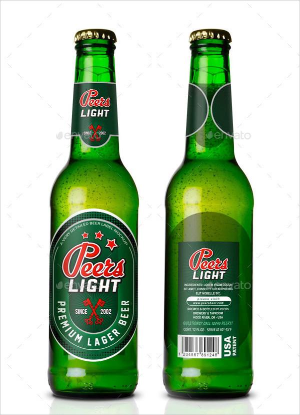 Sharp Beer Label Vector Template