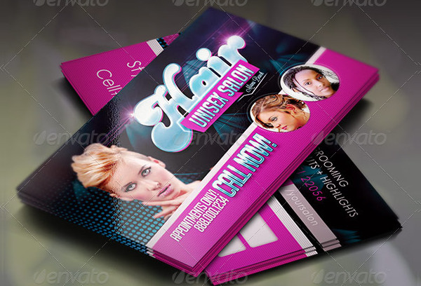 Awesome Hair & Beauty Business Card Template