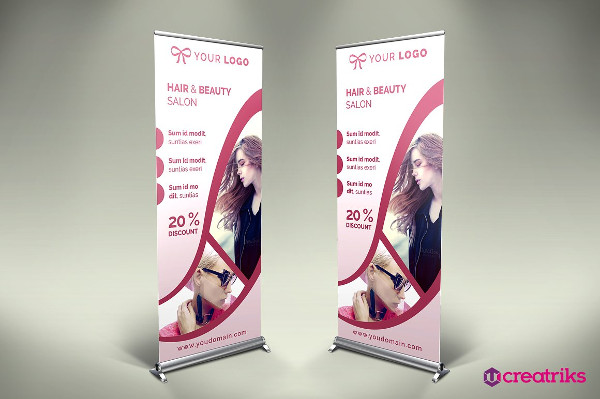 Hair Style Roll Up Banner Template