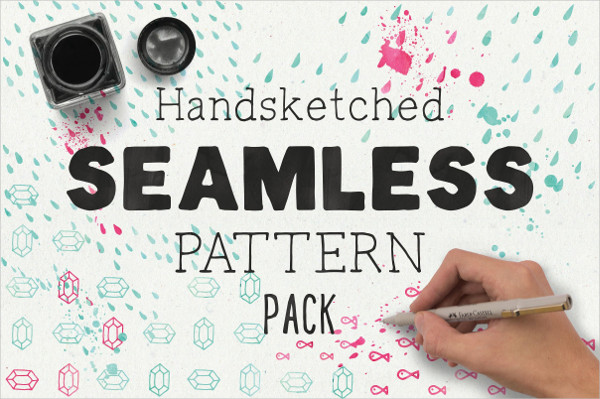 Hand Sketched Seamless Pattern Pack