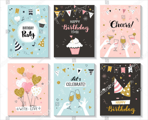 Happy Birthday Greeting Cards and Party Invitations
