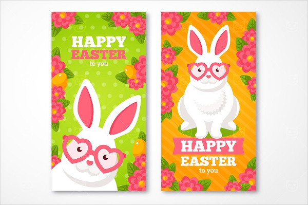 Happy Easter Vertical Banners Set