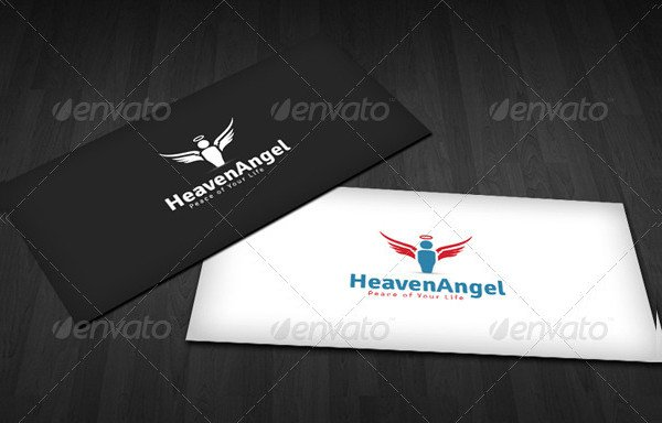 Heaven Angel Logos Template