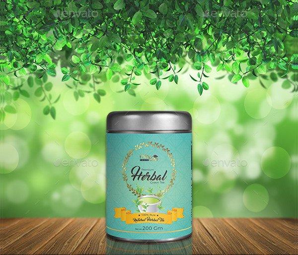 Herbal Green Tea Label Template