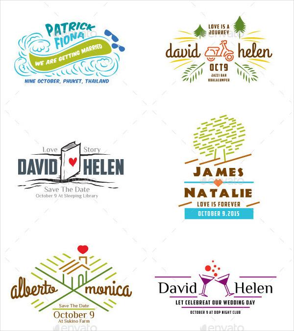 Hipster Wedding Label Badges