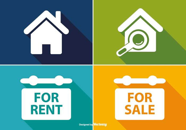 Free Home Icon Set for Real Estate