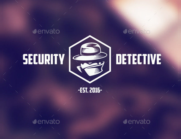 Detective Security Logo Template
