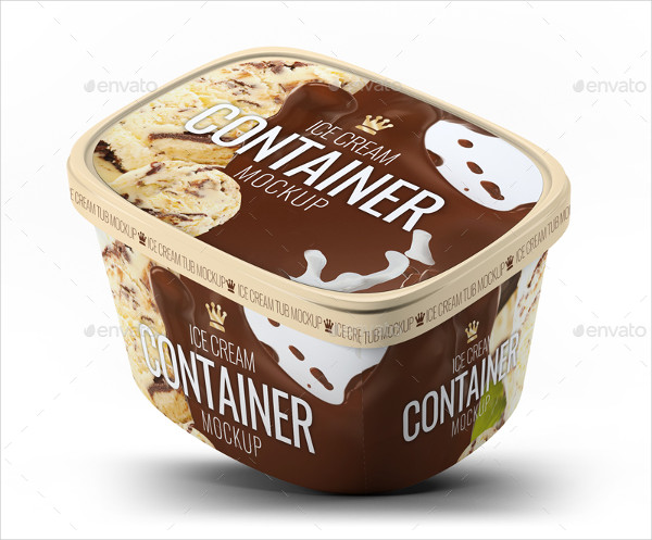 Ice Cream Container Mock-Up