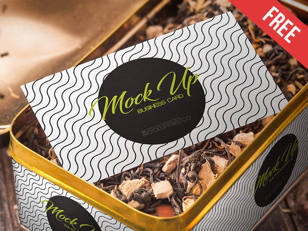 Tea Packaging Free PSD Mockup