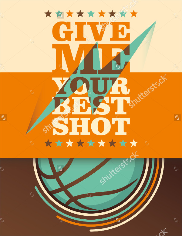 Illustrated Basketball Team Poster Template