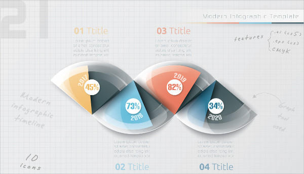Realistic Business Timeline Infographic Template