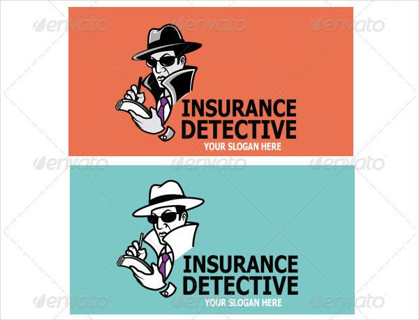 Insurance Detective Logo Template