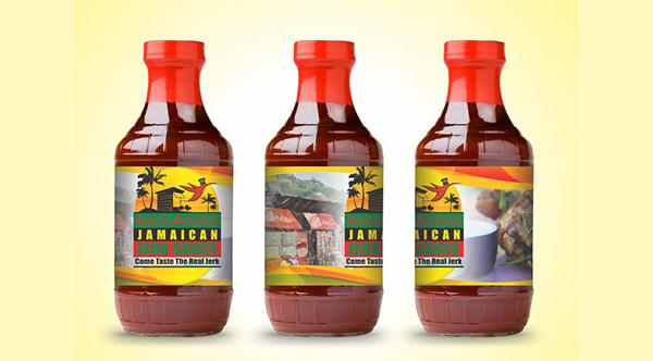 Jamaican Sauce Bottle Mock-up
