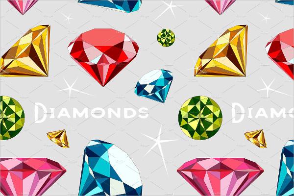 Shiny Pattern of Diamonds