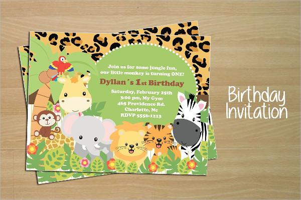 Jungle Style Birthday Invitation Card