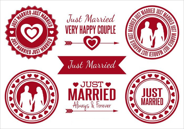 Just Married Badges Free Download