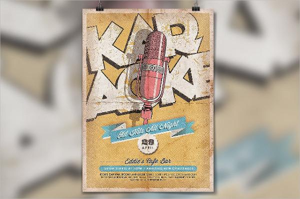 Karaoke Vintage Poster Template