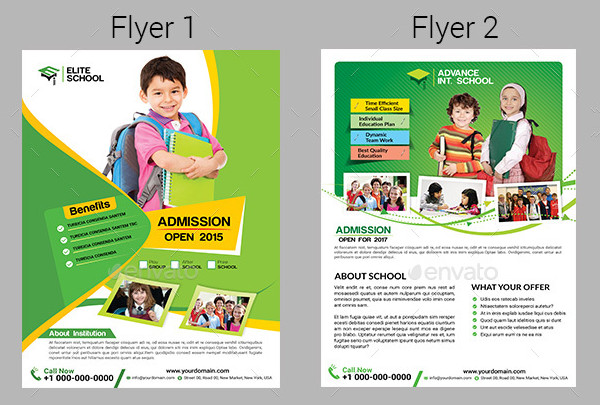 Kids School Flyers Bundle