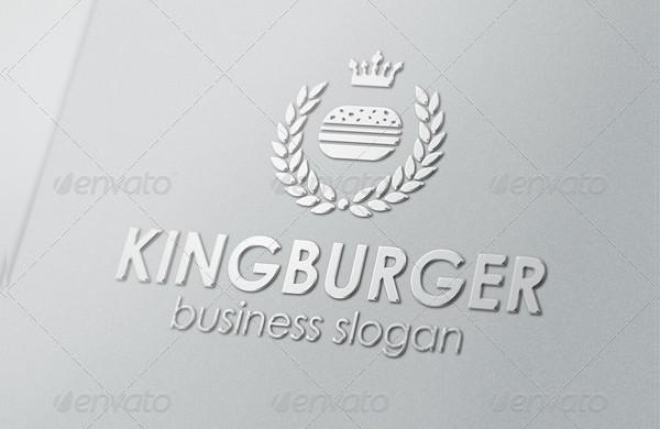 King Burger Royal Food Logo Template