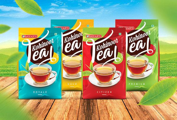 Kohinoor Tea Packaging Designs
