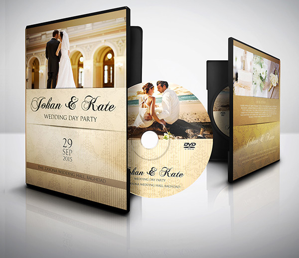 Perfect Wedding DVD Cover and DVD Label Template