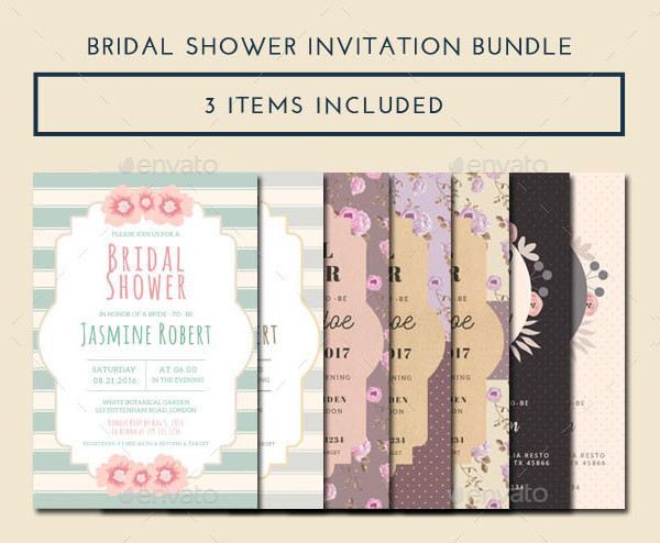 Latest Bridal Shower Invitations Bundle