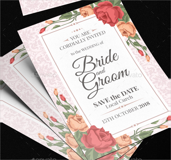 Latest Wedding Invitation Card Template
