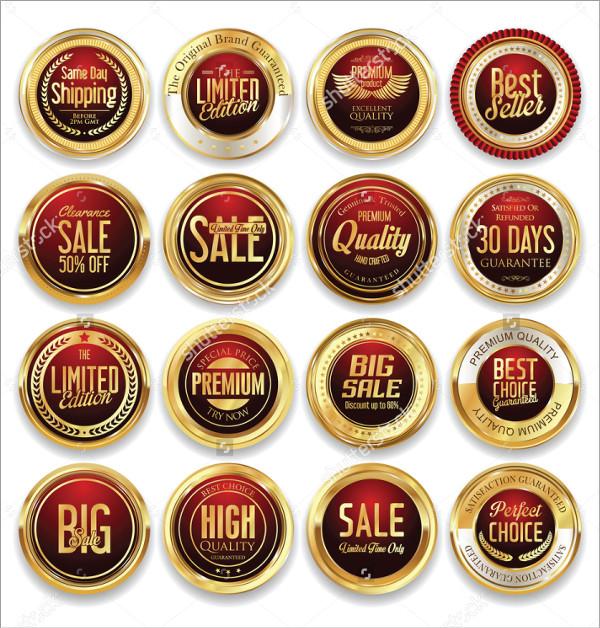 Luxury Retro Badge Labels Collection