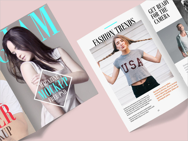 Fashion Magazine Mock-Up Free PSD Template