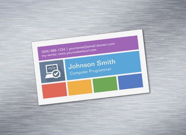 Metro Style Magnetic Business Card Template