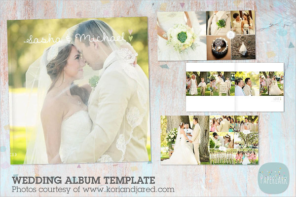 Magazine-Style Wedding Album Templates