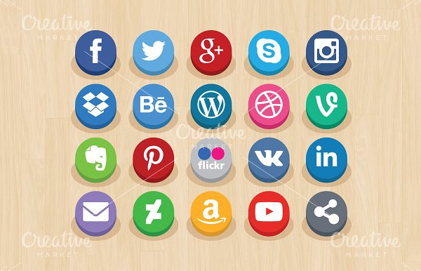 Clean Social Network Icons