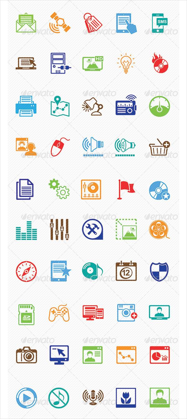 Marketing & Media Icons Set