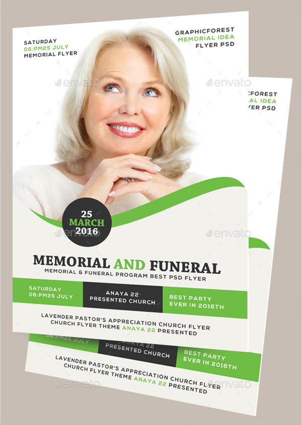 Memorial & Funeral Program Flyer Template