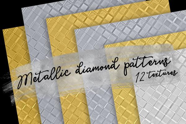 Metallic Diamond Patterns