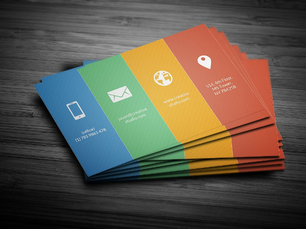 Metro Color Business Card Template