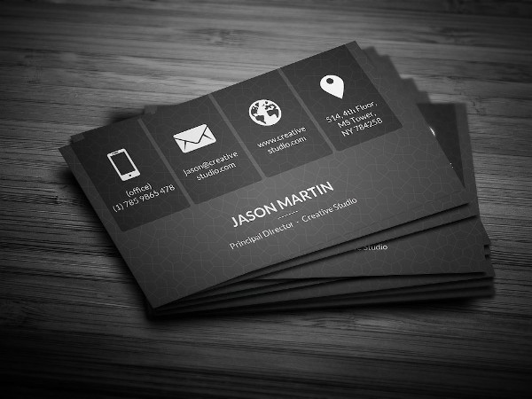 Metro Dark Corporate Business Card Template