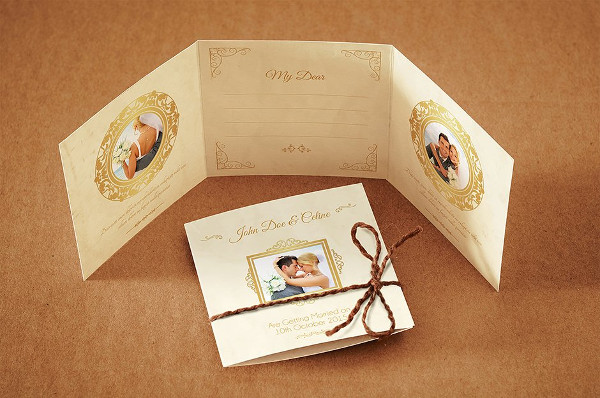 Mini Trifold Wedding Invitation Template