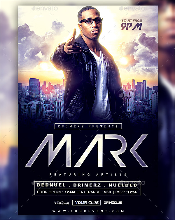 Minimal DJ Artist Flyer Template