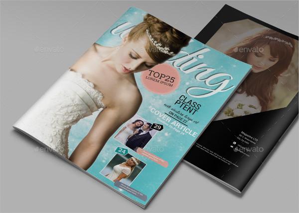 Minimal Design Bridal Magazine Template