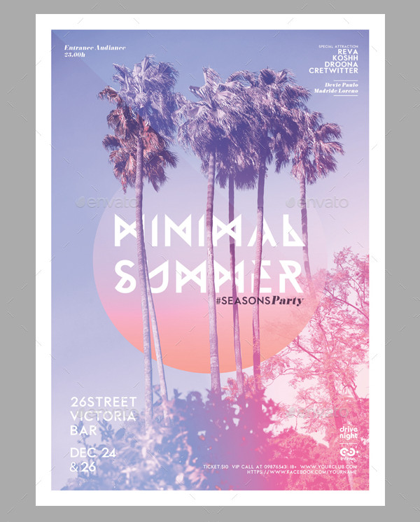 Minimal Summer Season Party Poster
